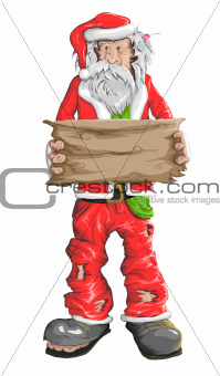 Homeless Santa Claus