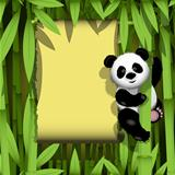Panda in the jungle