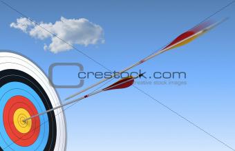 archery, bulls-eye
