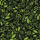 Seamless vector wallpaper. Green vegetation repeating pattern