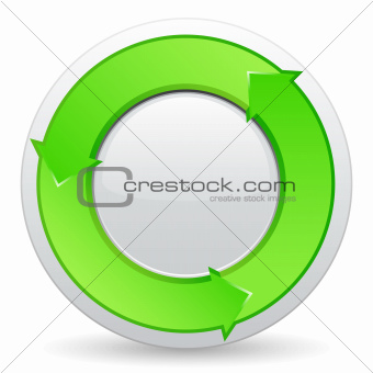 Green button with arrows