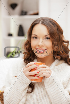 lovely woman with mug