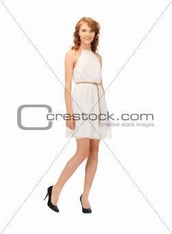lovely teenage girl in elegant dress