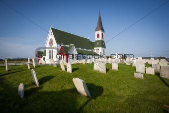 Saint Paul's Anglican Church and Cemetery in Trinity, Newfoundla