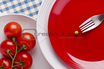 Tomatoes and a Pea