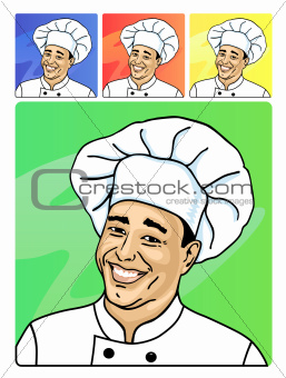 Smiling face of cook