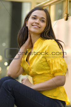 laughing young woman