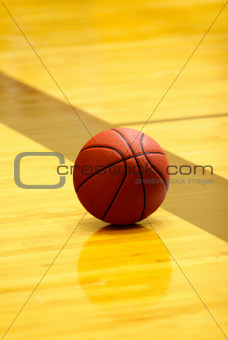 Basket ball on court 