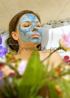 woman takes treatment