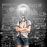 Lamp Head Woman