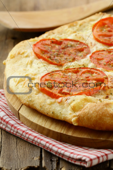 homemade  Margarita pizza with tomatoes  and cheese