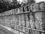 The Wall of Skulls at the Ancient Mayan Site of Chichen Itza