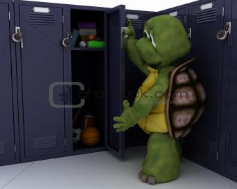 tortoise with school locker