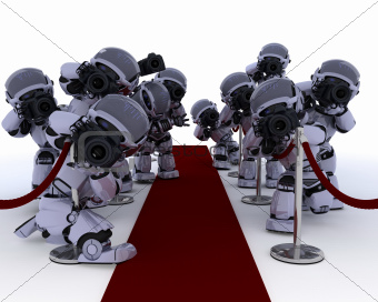 Robot Paparazzi at the red carpet