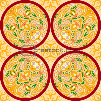 seamless pattern abstract paint ornament