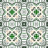 seamless pattern abstract square green