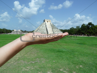 The Ancient Mayan Pyramid at Chichen Itza