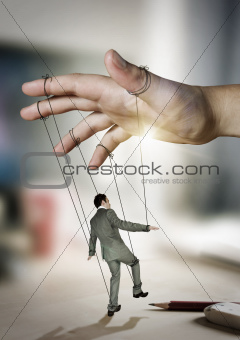 Businessman On Strings