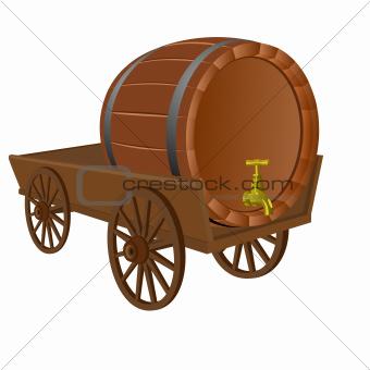 Cart with a keg