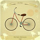 Retro bicycle card