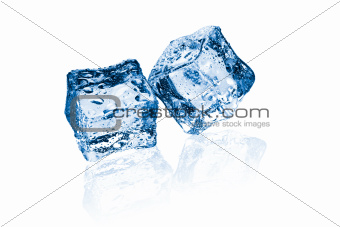 two ice cubes
