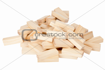 Stack of wooden rectangular blocks