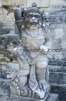 sculpture in temple bali indonesia