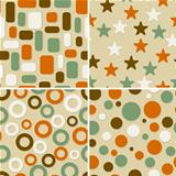 four abstract vector seamless patterns