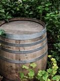 rustic wooden barrel