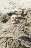 Child in the sand