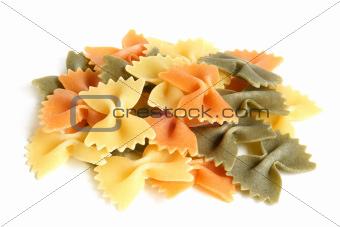 Colored Italian pasta (Farfalle)