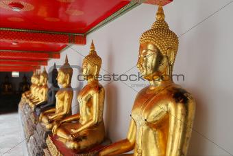 Buddhas, Wat Pho, Bangkok,Thailand