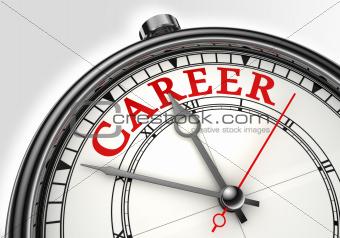 career concept clock closeup
