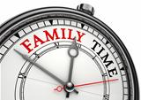 family time concept clock
