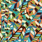 Abstract leaf pattern background