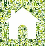 House symbol with environmental icons