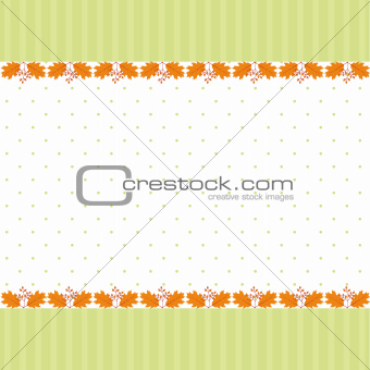 Abstract autumn leaf seamless pattern greeting card