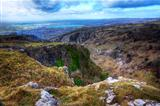 Stunning landscape across top of ancient mountain gorge