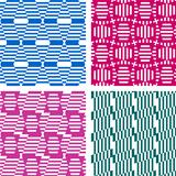 Seamless geometric patterns. Textures set.