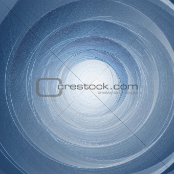 Rotation. Abstract blue background.