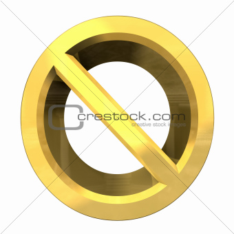 forbidden symbol in gold (3d)