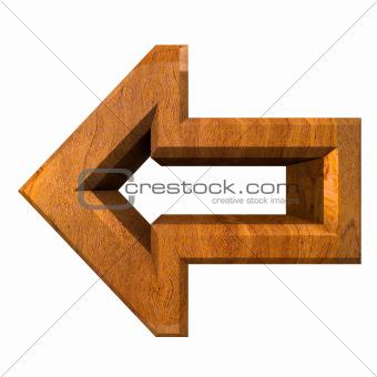 arrow symbol in wood - 3D