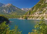 River as a fjord in Montenegro