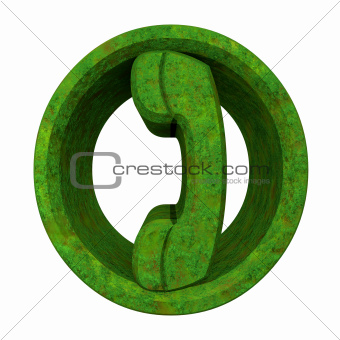 phone symbol in grass
