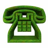 phone symbol in grass - 3D