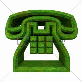 phone symbol in grass - 3D
