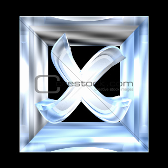ko tick in glass isolated - 3D