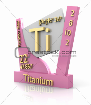 Titanium form Periodic Table of Elements - V2
