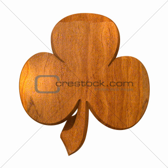 3D shamrock in wood