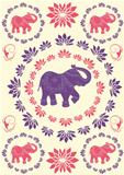 Festive typical indian elephant background